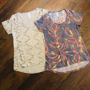 EUC Lot of Two XS LuLaRoe Classic T Shirts
